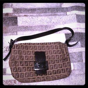 Authentic FENDI Brown Baguette Bag